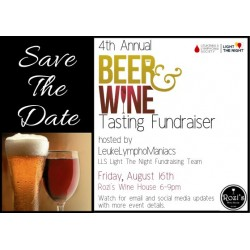 08/16/2019 - Wine & Beer Tasting LeukeLymphoManiacs Fundraiser featuring Jackie O's Brewery & Rutherford Ranch Wines