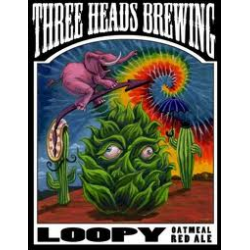 Three Head Loopy Oatmeal Red Ale 1/6bbl