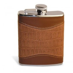 Leather Hybrid Flask - 6 oz.