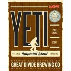 Great Divide Yeti Imperial Stout 4pk