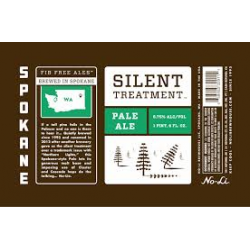 No-Li Silent Treatment Pale Ale 1/6bbl