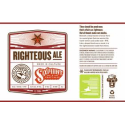Sixpoint Righteous Ale 1/6bbl