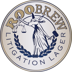 RooBrew Litigation Lager 1/6bbl Keg