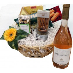 Whispering Angel Rose Gift Basket